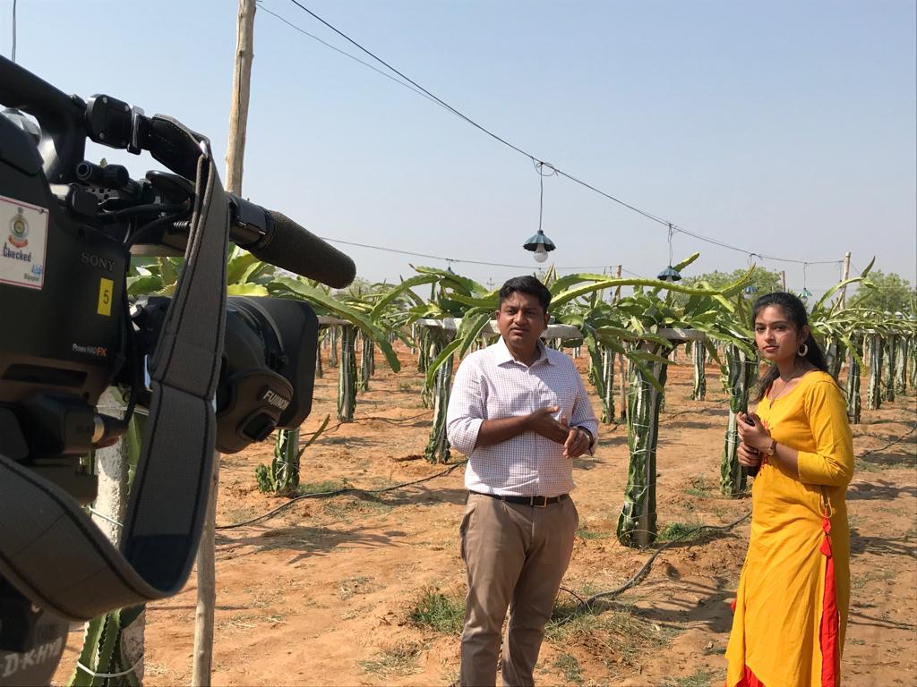 Doordarshan ( DD kisan) Interview / filming a documentary on deccan exotics