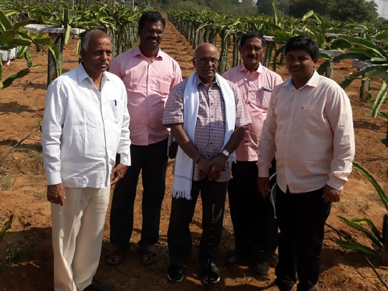 Visit to farm by GRT jewellers chairman