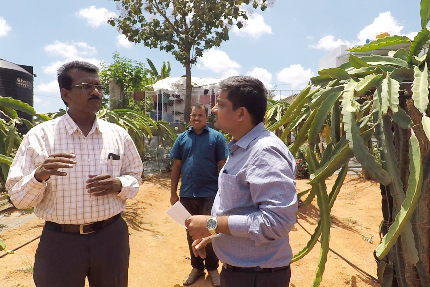 Visit to research center in Tumkur , Bangalore