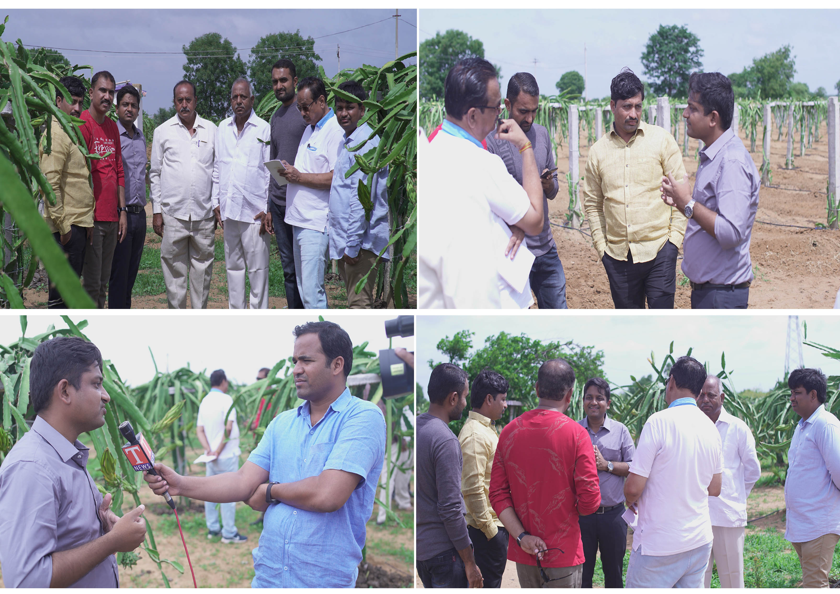 Interactive session cum farm visit by farmers of Maharashtra to Deccan exotics