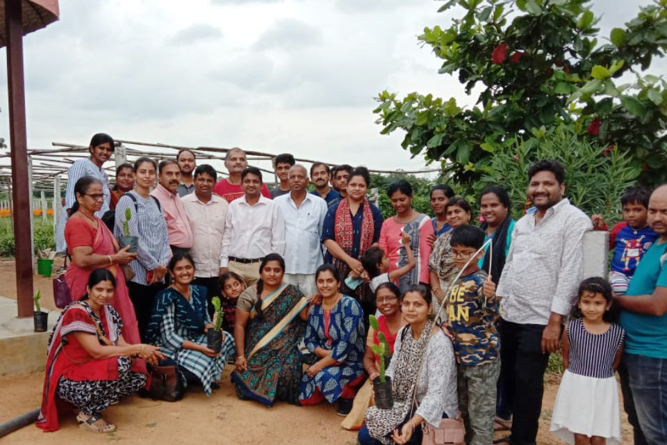 Visit by Terrence gardening association of Hyderabad group